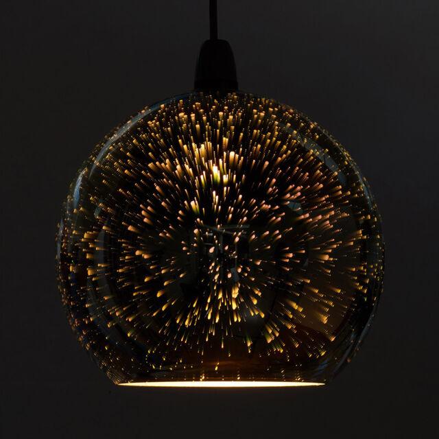 Zodiac Firework Effect Silver Chrome Ball Glass Ceiling Pendant ...