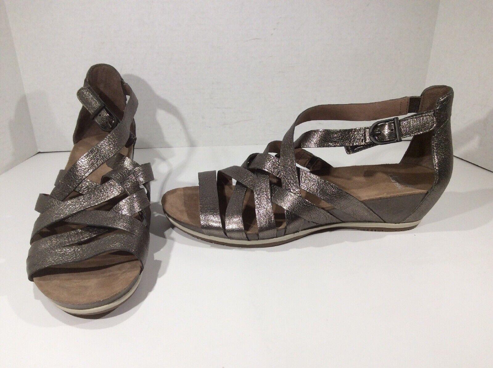 DANSKO donna Vivian Bronze Gladiator Sandals scarpe Sz 41 41 41 = 10.5 - 11 DK-174 c15686