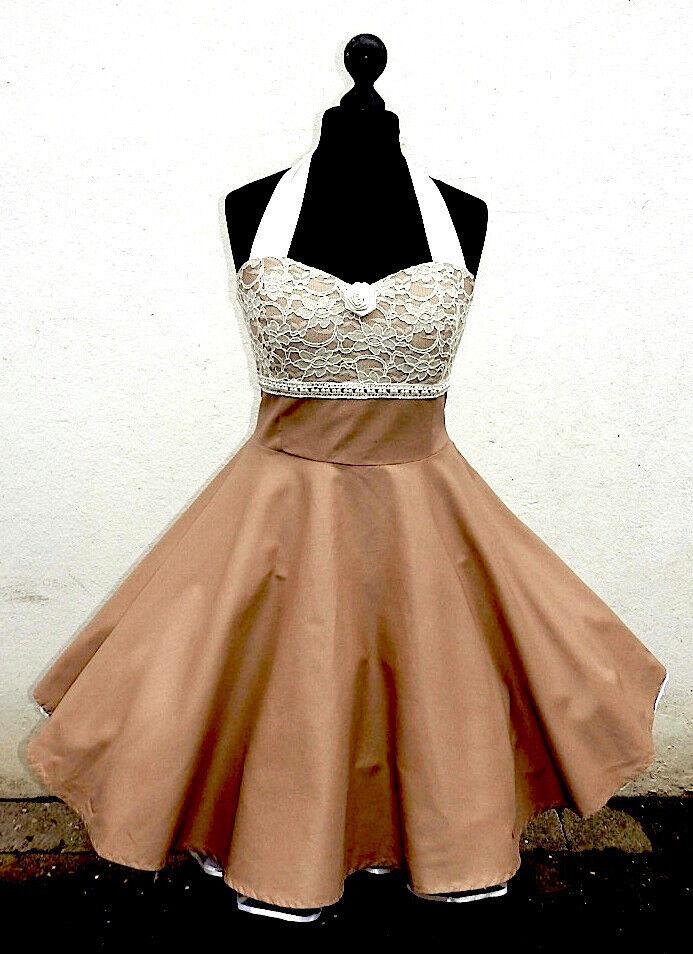 PettiMantelkleid Rockabilly Abiball Konfirmations Abend Kleid Kleid Maßanfertigung