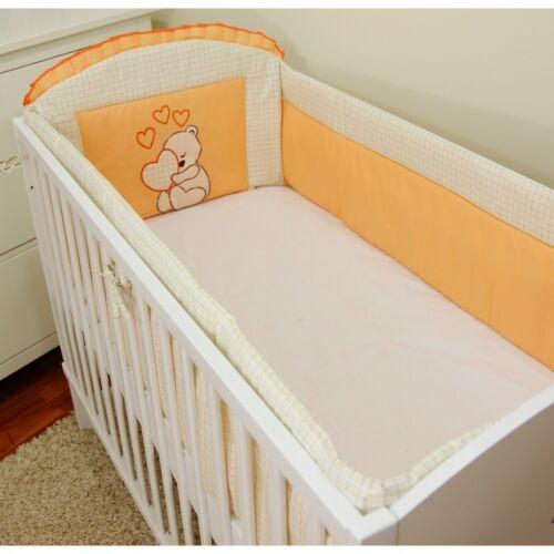 Bettumrandung für Babybett  60x120//70x140cm Kopfschutz Netschen 360cm//420cm Herz