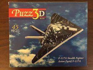 Details about Puzz3D Mini F-117A Stealth Fighter Jet Plane 3D Puzzle - 45  Pieces