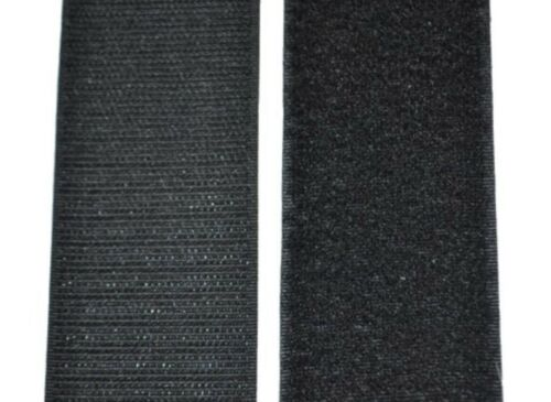 "Black Sew-on Type 12 Inch Lengths Uncut Hook /& Loop Strong Velcro 2/"" Inch"