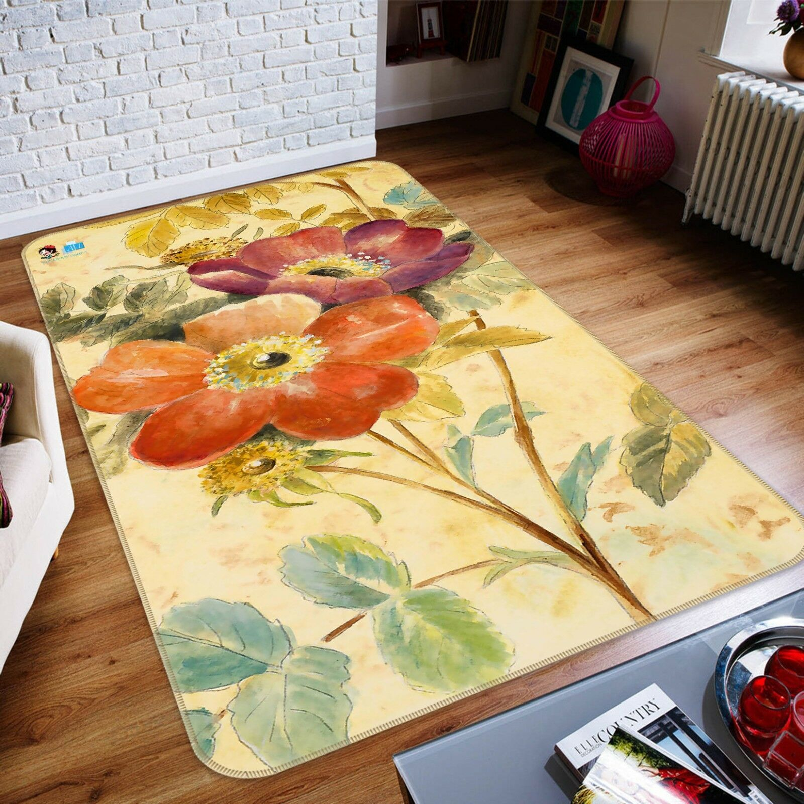 3D Flower Painting 225 Non Slip Rug Mat Room Mat Quality Elegant Photo Carpet AU