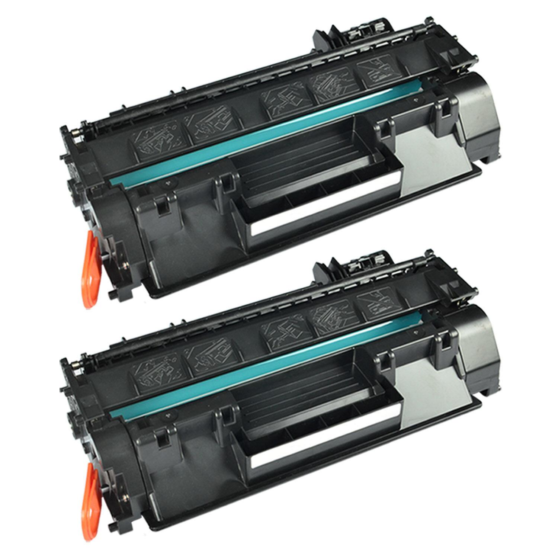 2PK Black CE505A 05A Toner Cartridges For HP LaserJet P2035n P2055dn Printer Ink