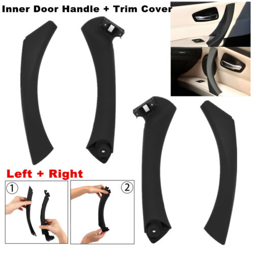 4 Pcs Car Door Inner Handle Cover+Outside Cover For BMW 3 Series 318 320 325 328