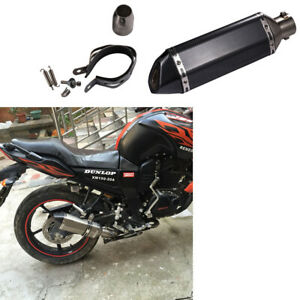 51mm-Motorcycle-Carbon-Fiber-Pattern-Exhaust-Muffler-Pipe-With-Removable-Black