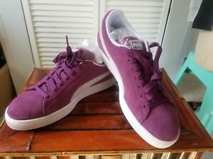 cedfa5ff28 Details about Mens Puma Suede Classic Sneaker Purple Grape Kiss White Size 8