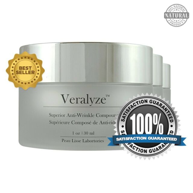 VERALYZE - 3 Jars - #1 Anti-Aging Cream Anti-Wrinkle Treatment With Peptides