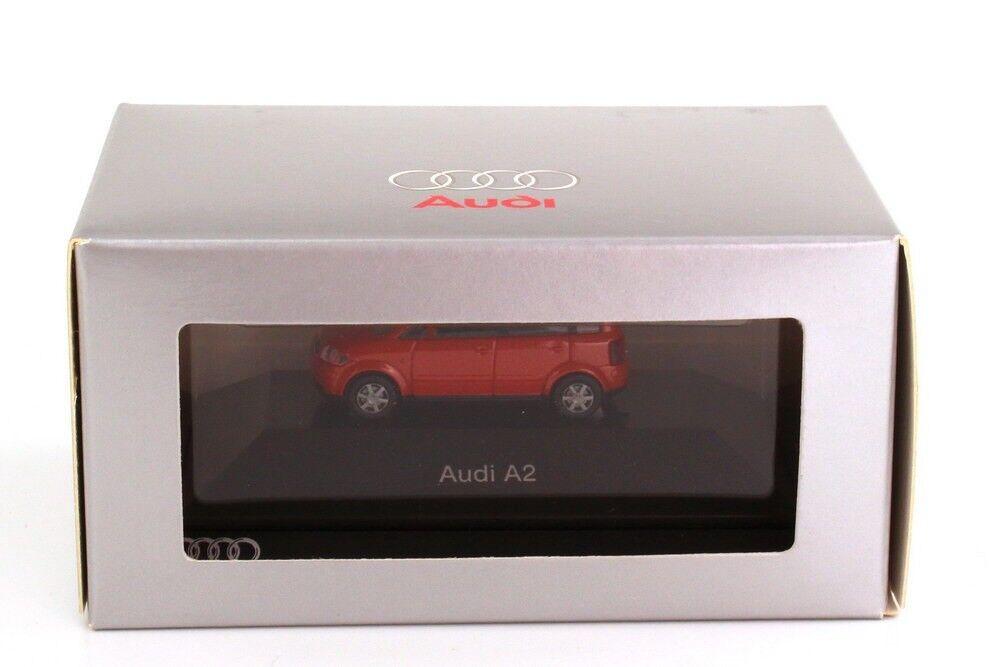 RARE AUDI A2 JAIPUR RED RED RED 1999 - 2005 5 DOOR HATCH 1 87 RIETZE (DEALER MODEL) d925cb
