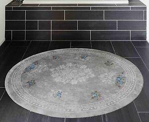 teppich rund 120 cm in grau kelim teppich rutschfest waschbar badteppich neu ebay. Black Bedroom Furniture Sets. Home Design Ideas