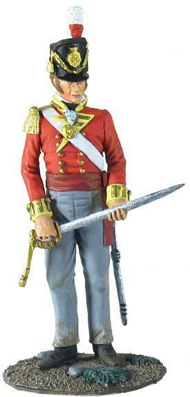 BRITAINS SOLDIERS 36096 - British 44th Foot Regiment Battalion Company Officer