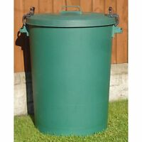110 LITRE GREEN GARDEN  HOUSE STORAGE DUSTBIN BIN REFUSE BIN BAG RECYCLE PLASTIC