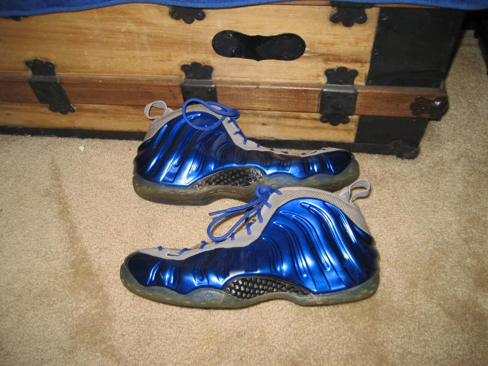 Nike air foamposite uno sport royal blue wolf grey penny hardaway taglia 10