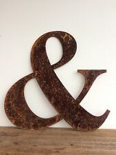 """16"""" 40cm & Rusty Rusted Metal Letter Industrial Sign Decoration Ornament"""