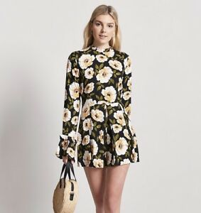 """Clothing, Shoes & Accessories Forever 21 Size S Floral Romper Length 31"""" Zipped In Front"""