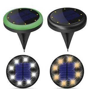 2pcs-Solar-8LED-Buried-Under-Ground-Lamps-Waterproof-Outdoor-Garden-Yard-Light
