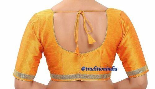Readymade Sari Blouse,Stitched Dupion Silk Boat neck Top,Designer Saree Blouse,