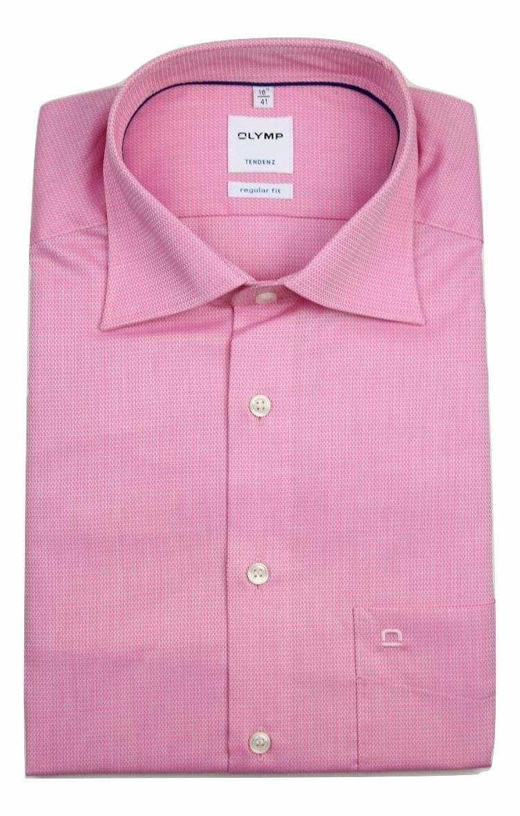 Pink Dobby Spread Collar