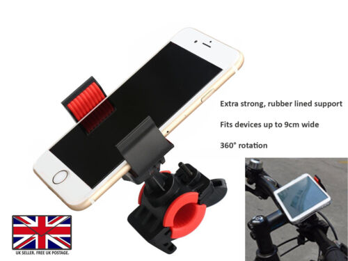 Bicycle Bike Mount Handlebar Phone Holder Grip 360° For Wiko Sunny 4 Plus