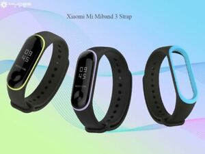Lemfo-Original-Xiaomi-Mi-band-3-Correas-Pulsera-Negro-amp-Blanco-Impermeable-Strap