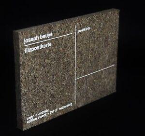 Fluxus Beuys multiple - France - Joseph Beuys Filzposkarte Carte postale en feutre format 11x16cm, epaisseur 1cm - France