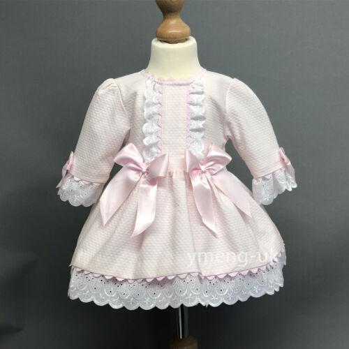 New Stunning Wee Me Baby Girl Pink Spanish Princess Half Sleeve Dress Romany