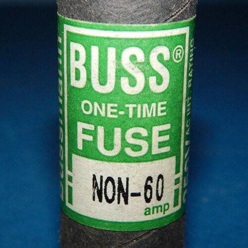 Lot of 3 Bussmann NON-60 One-Time Fuses 60Amp 250Volt Class K5 NON60