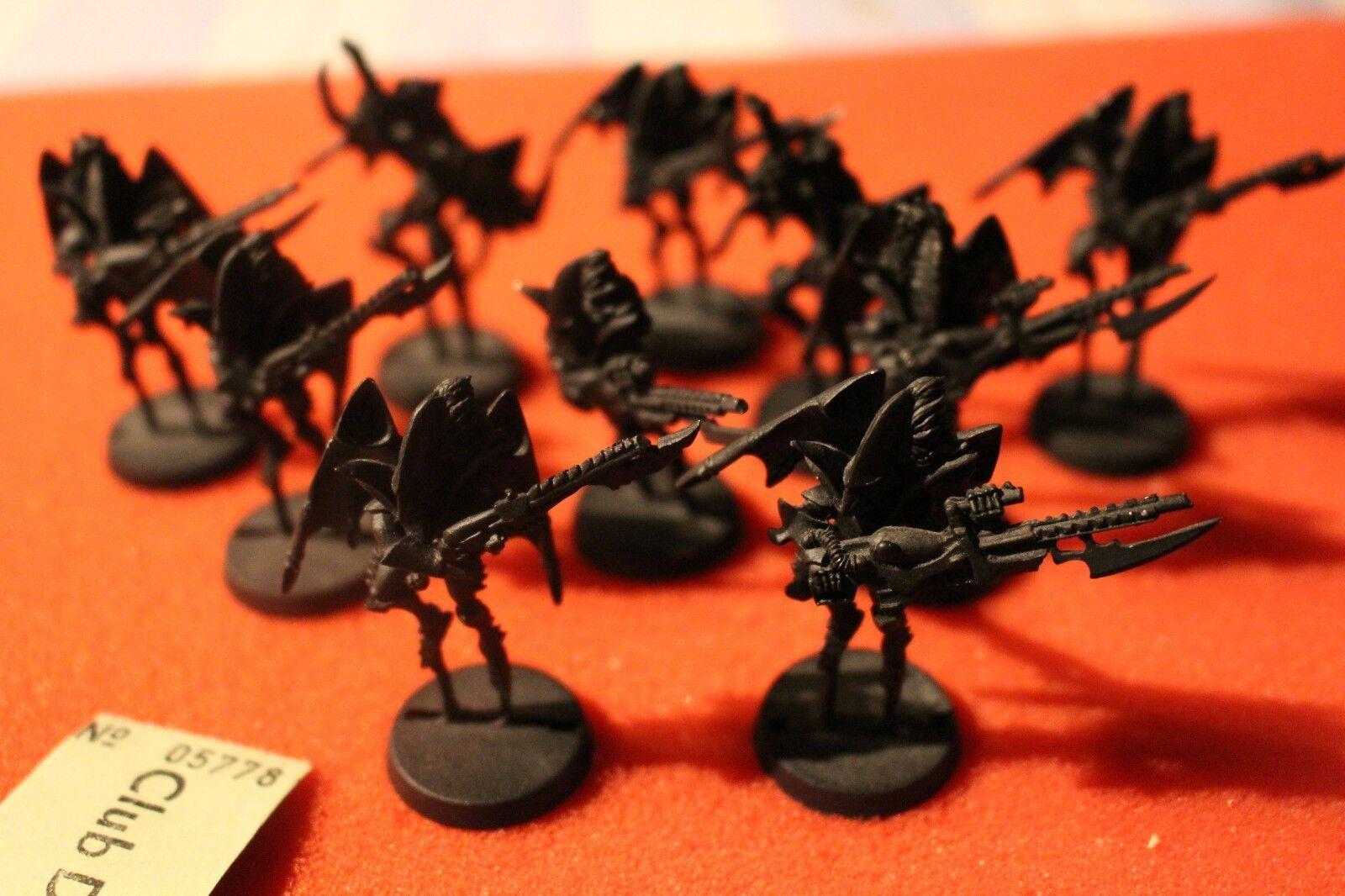 Games Workshop Warhammer 40k Dark Eldar fléaux 10 metal figures 1st Edition GW