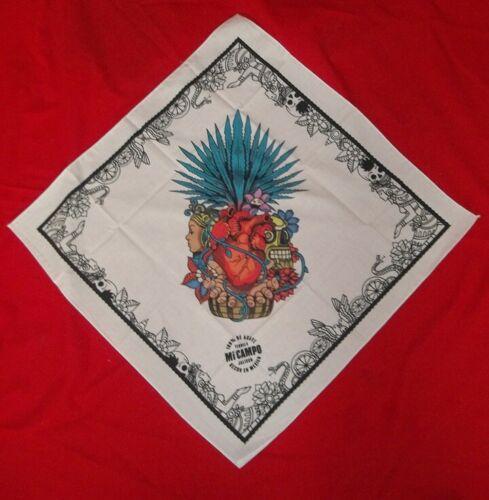 New! Mi Campo Tequila Day of the Dead Bandana 21 x 21