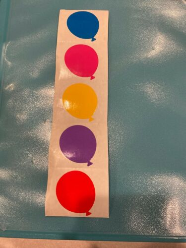 Grossman/'s Stickers Red Mrs Purple Yellow Large Pink Balloons Blue