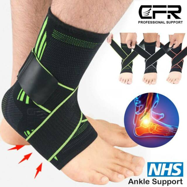 RDX Ankle Support Brace Foot Guard Injury Bandage Compression Sleeve Pain Relief