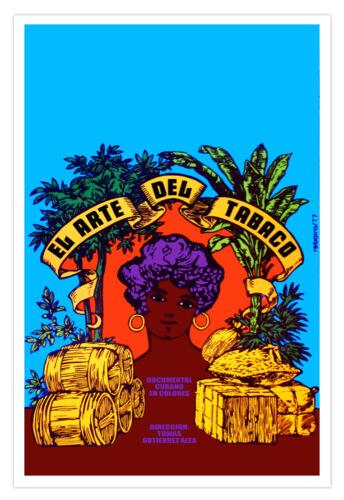 "Cuban decor Graphic Design movie Poster for/""Art of the Cigar/""Arte del TABACO"