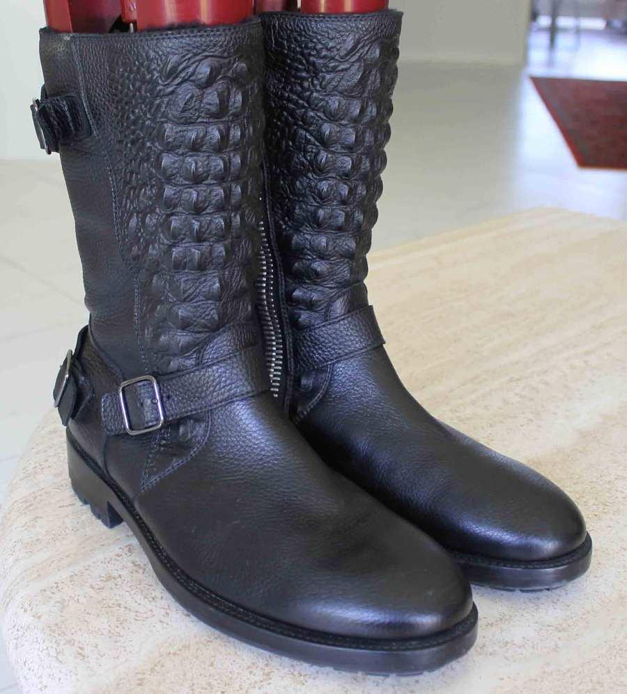 PHILIPP PLEIN  CHOPARD  botas Zapatos Hombres 44 Euro 11 M EE. UU. Piel Forrada de