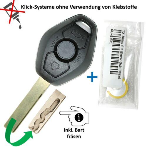 Para bmw clave de sustitución carcasa batería e83 e46 e52 e53 Repair-set Bart fresado Ink