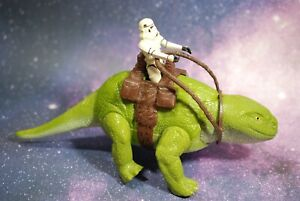 VINTAGE Star Wars COMPLETE DEWBACK + STORMTROOPER ACTION FIGURE KENNER reins