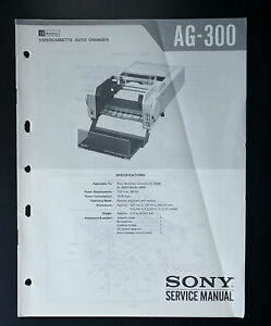 details about sony ag 300 original service manual service manual wiring diagram 3-Way Switch Wiring Diagram