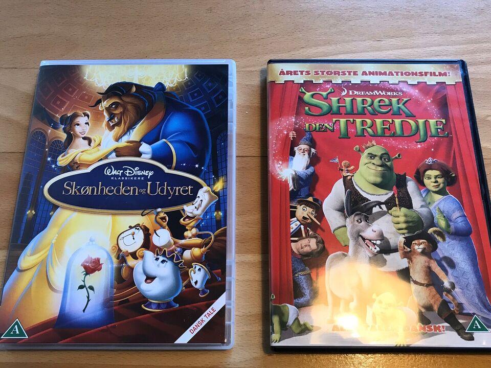 Skønheden og udyret Shrek den tredje, DVD, animation