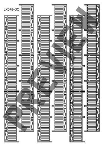 LASER CUT DECORATIVE WROUGHT IRON RAILINGS OO SCALE 1:76 MODEL RAILWAY LX075-OO