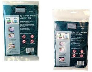 Travel Vacuum Suction Bag Save Space Shrinks Bedding Clothes Storage 2 Sizes