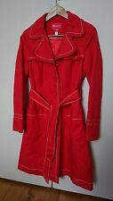 Gorgeous red monsoon coat / jacket uk 12 fully lined 100% cotton