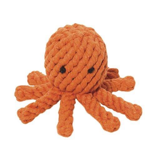 Free Shipping New Jax and Bones Good Karma Rope Dog Toy Elton the Octopus