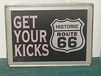 1 #1037 ROUTE 66 METAL LICENSE PLATE HISTORIC NO