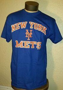 621f8dd9 Majestic MLB New York Mets NY Baseball Team Logo Blue T-Shirt Mens ...