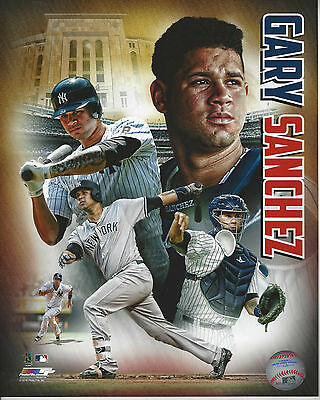 New York Yankees Sensation Gary Sanchez  8x10 color college action  photo