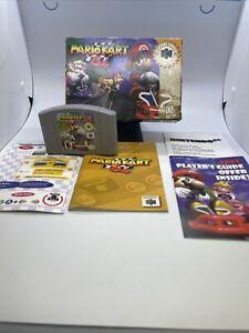 Mario Kart 64 Nintendo 64 N64 Cart Video Game Manual Box lot TESTED