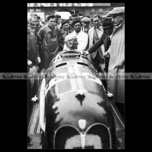 #pha.027523 Photo TAZIO NUVOLARI ALFA ROMEO 16C AVUS GRAND PRIX AVUSRENNEN 1935