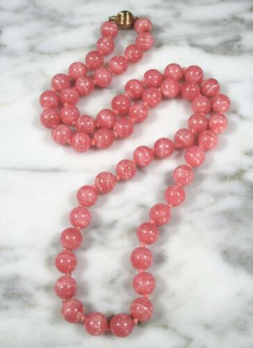 Long Boho Necklace   Bohemian Necklace   Pink Rhodochrosite Chip Necklace