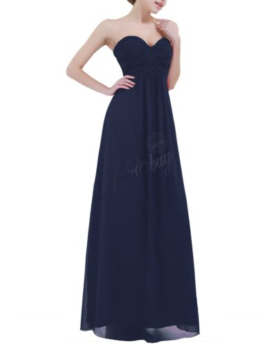 Women Long Chiffon Evening Formal Party Cocktail Dress Bridesmaid Prom Gown