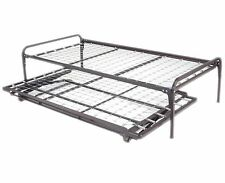 Twin Size Metal Day Bed (Daybed) Frame & Pop up Trundle with Great Firm Mattress