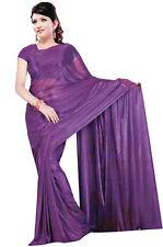 Trendofindia Dunkellila Bollywood Sari Viscose